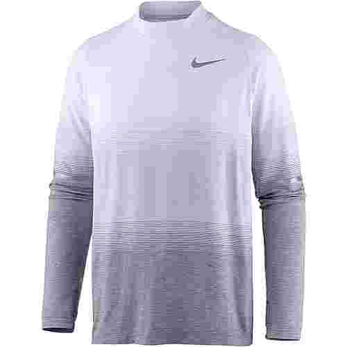 Nike Dri-Fit Knit Laufshirt Herren pure-platinum-wolf-grey-dark-grey