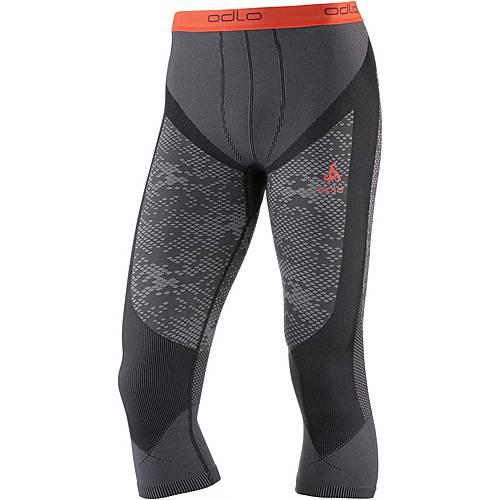 Odlo Blackcomb Evolution WARM Funktionsunterhose Herren black-concrete grey-hot coral