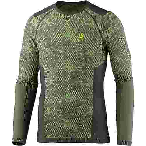 Odlo Blackcomb Evolution WARM Funktionsshirt Herren graphite grey-safety yellow