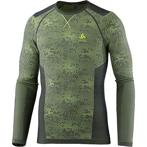 Odlo Blackcomb Evolution WARM Funktionsshirt Herren graphite grey-safety yellow
