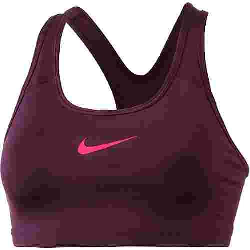 Nike Pro Classic Swoosh Sport-BH Damen bordeaux-racer pink
