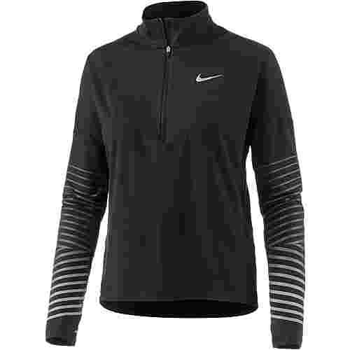 Nike Dry Flash Element Laufshirt Damen black-anthracite