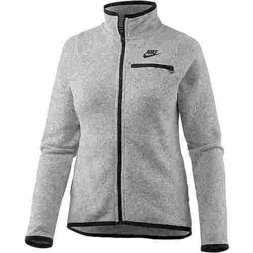 Nike Fleecejacke Damen dark grey heather-black