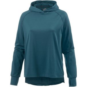 ASICS THERMOPOLIS Laufhoodie Damen blue steel heather