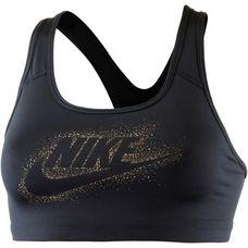 Nike Pro Classic Swoosh Futura Sport-BH Damen black-metallic gold
