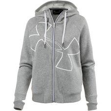 Under Armour Good Europe Sweatjacke Damen steel light heather-metallic silver-metallic silver