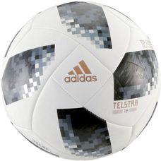 adidas World Cup Glider Telstar 18 Fußball white/black/silver met.