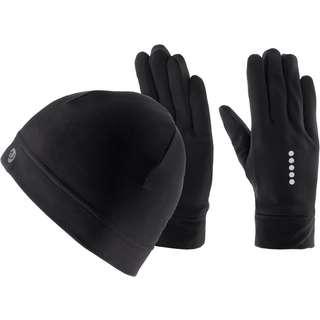 unifit Set Mütze und Handschuhe Herren schwarz