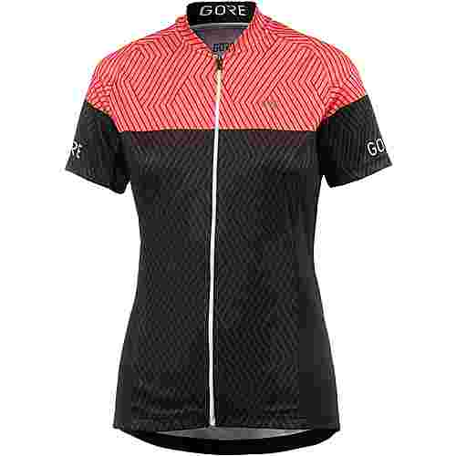 GORE® WEAR C3 DAMEN OPTILINE TRIKOT Fahrradtrikot Damen black/coral glow