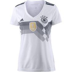 adidas DFB WM 2018 Heim Fußballtrikot Damen white/black