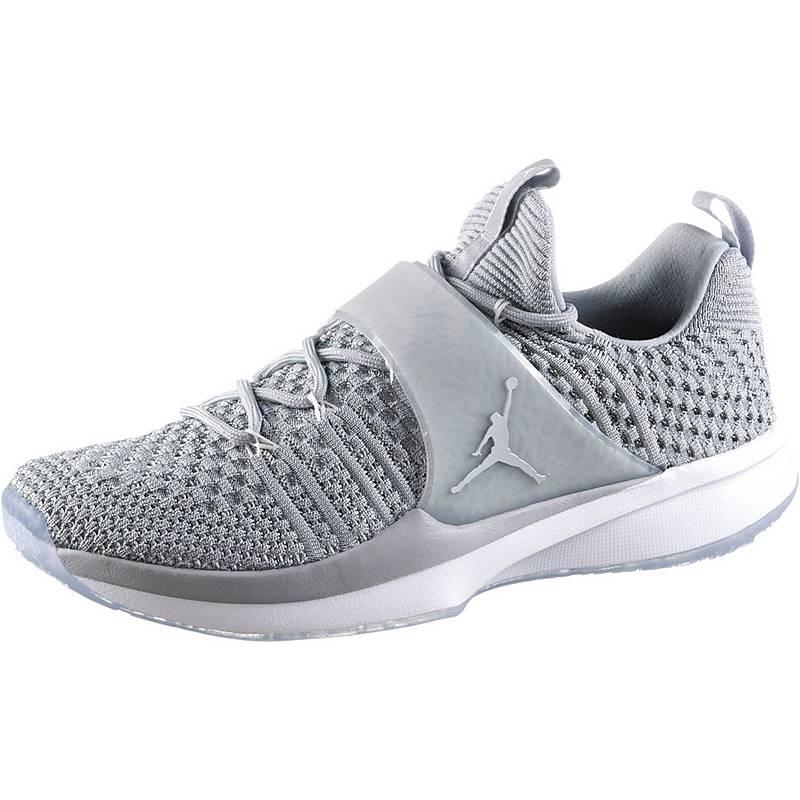 718b6dc93167 Nike JORDAN TRAINER 2 FLYKNIT Fitnessschuhe Herren wolf grey-metallic silver -white