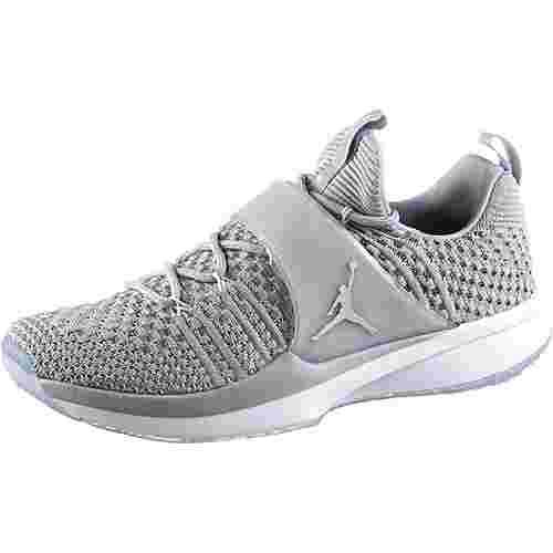 Nike JORDAN TRAINER 2 FLYKNIT Fitnessschuhe Herren wolf grey-metallic silver-white