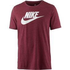 Nike T-Shirt Herren birch heather-dark team red-sail