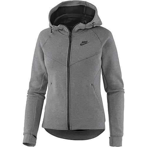 Nike NSW Tech Fleece Strickfleece Damen grau im Online Shop von ...