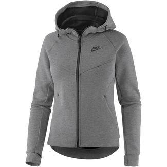 Nike NSW Tech Fleece Strickfleece Damen grau