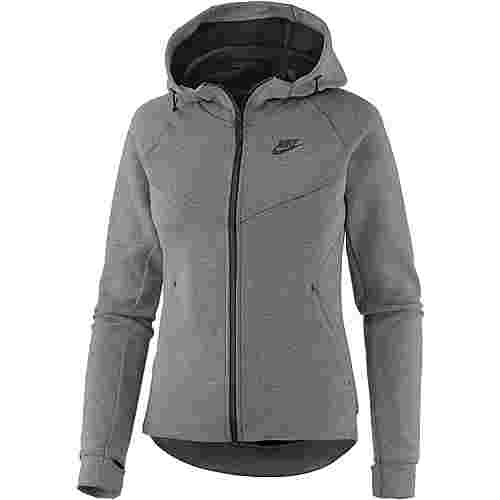 Nike NSW Tech Fleece Strickfleece Damen grau