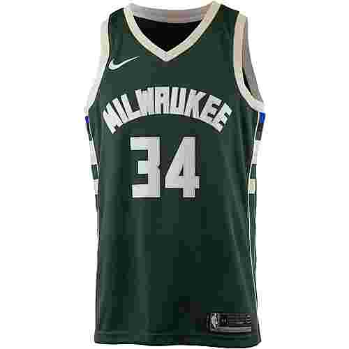 Nike GIANNIS ANTETOKOUNMPO MILWAUKEE BUCKS Basketballtrikot Herren FIR/FLAT OPAL