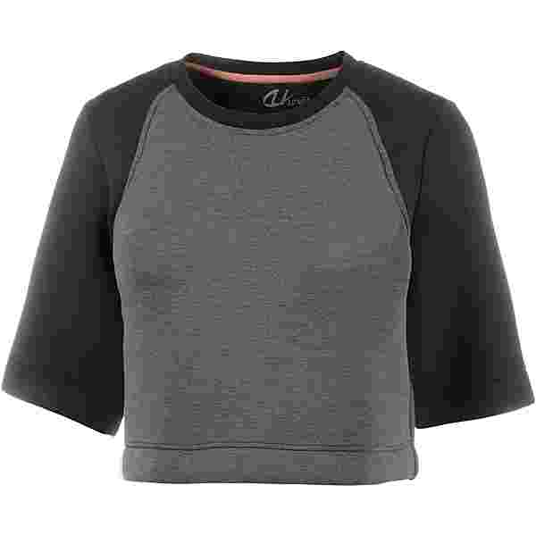 unifit Croptop Damen hellgrau