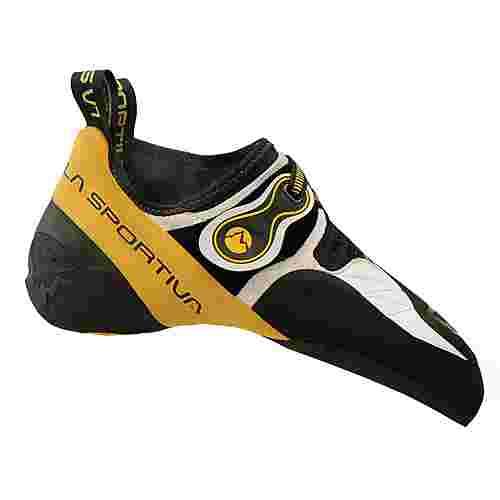 La Sportiva Solution Kletterschuhe Herren white-yellow