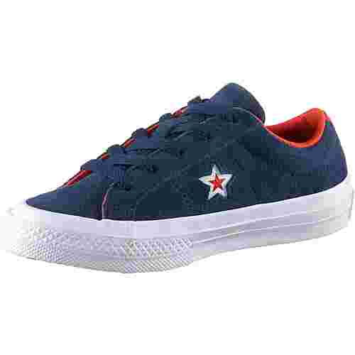 CONVERSE On Star Sneaker Kinder navy-white-bright poppy