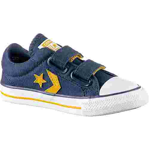 CONVERSE Star Player EV 2V Sneaker Kinder navy-mineral yellow-white