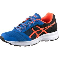 ASICS Patriot 9 Laufschuhe Kinder VICTORIA BLUE-SHOCKING ORANGE-BLACK