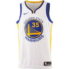 Nike KEVIN DURANT GOLDEN STATE WARRIORS Basketball Trikot Herren WHITE