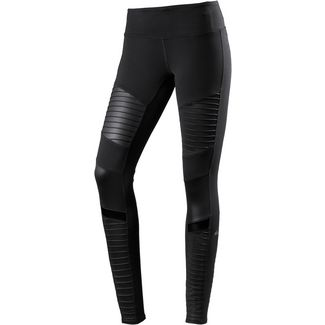 alo yoga Moto Tights Damen black-black glossy