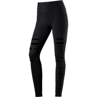 alo yoga High-Waist Ripped Warrior Tights Damen black