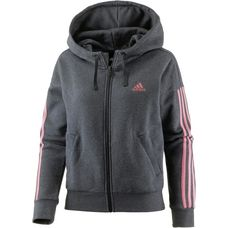 adidas Essential Sweatjacke Damen dark grey heather-tactile rose f17