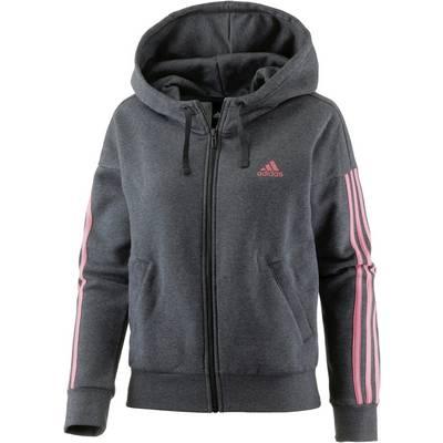 adidas Essential Sweatjacke Damen dark grey heather-tactile rose f17