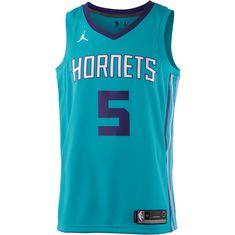 Nike NICOLAS BATUM CHARLOTTE HORNETS Basketball Trikot Herren RAPID TEAL/NEW ORCHID