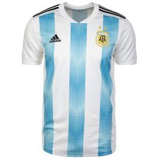 adidas Argentinien WM 2018 Home Fußballtrikot Herren white-clearblue-black