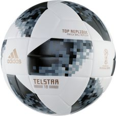 adidas World Cup Replica Telstar 18 Fußball white/black/silver met.