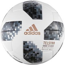 adidas World Cup OMB Telstar 18 Fußball white/black/silver met.