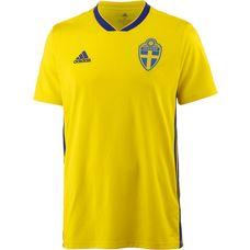 adidas Schweden WM 2018 Heim Fußballtrikot Herren yellow-mysterink