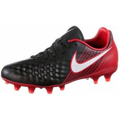 Nike JR MAGISTA ONDA II FG Fußballschuhe Kinder black/white-university red