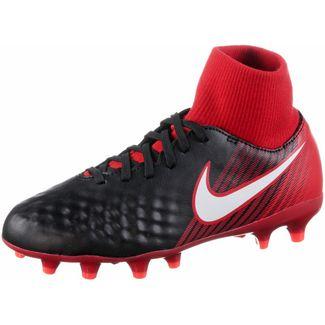 Nike JR MAGISTA ONDA II DF FG Fußballschuhe Kinder black/white-university red