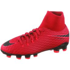 Nike JR HYPERVENOM PHELON 3 DF FG Fußballschuhe Kinder university red/black-bright crimson