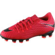 Nike JR HYPERVENOM PHELON III FG Fußballschuhe Kinder university red/black-bright crimson