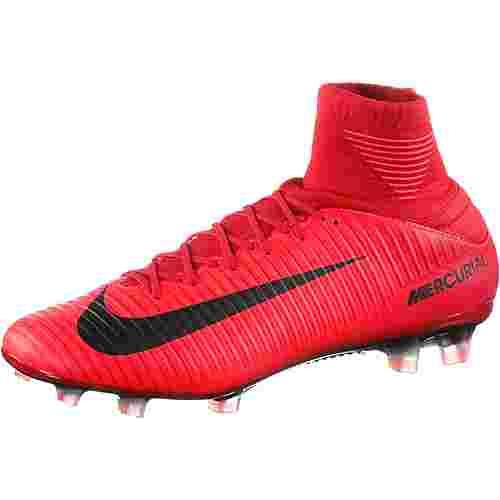 Nike MERCURIAL VELOCE III DF FG Fußballschuhe Herren university red/black-bright crimson