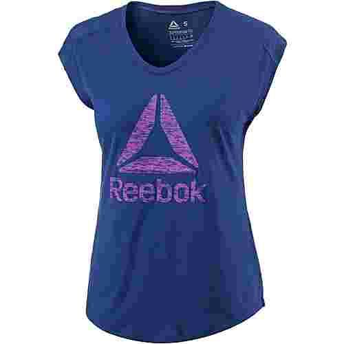 Reebok Workout Ready Supremium T-Shirt Damen deep cobalt-deep cobalt
