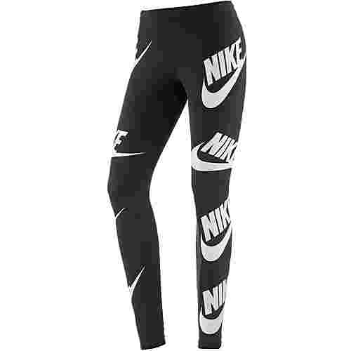 Nike Leggings Damen black-white