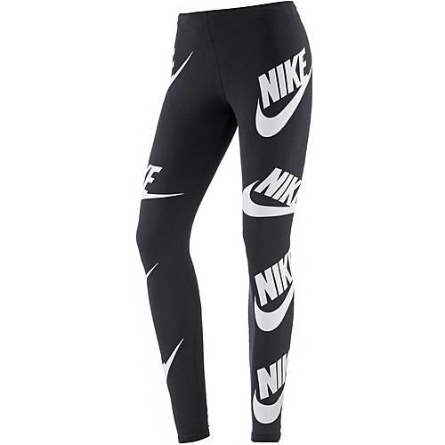 Nike Leggings Damen black-white