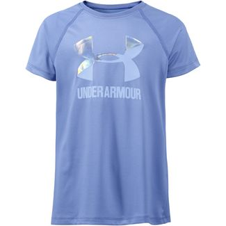 Under Armour Solid Big Logo SS T Funktionsshirt Kinder talc blue