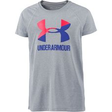 Under Armour Solid Big Logo SS T Funktionsshirt Kinder stell light heather