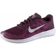 Nike Free Run Laufschuhe Kinder bordeaux-metallic-silver