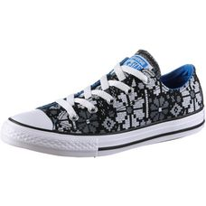 CONVERSE Chuck Taylor All Star Ox Sneaker Kinder black-italy-blue-white
