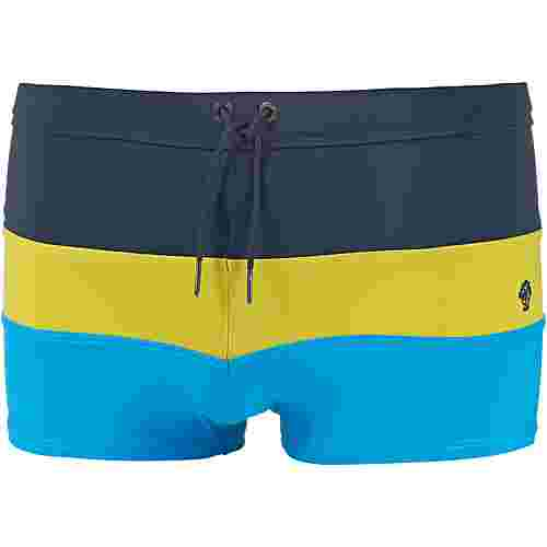 Marc O'Polo Kastenbadehose Herren blau-gelb