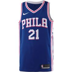 Nike JOEL EMBIID PHILADELPHIA 76ERS Basketball Trikot Herren BLUE